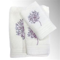 Dandelion Bath Towel Set Ivory Bath Hand Fingertip