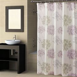 Dandelion Floral Shower Curtain Ivory 72 x 72