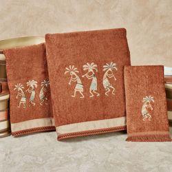 Rio Grande Bath Towel Set Copper Bath Hand Fingertip