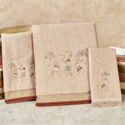 Rio Grande Bath Towel Set Dark Beige Bath Hand Fingertip