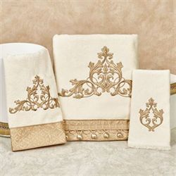 Monaco Bath Towel Set Light Cream Bath Hand Fingertip