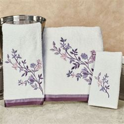 Whisper Bath Towel Set White Bath Hand Fingertip