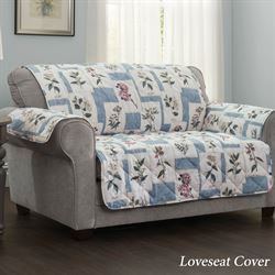 Floralescent Furniture Protector Blue Recliner/Wing Chair