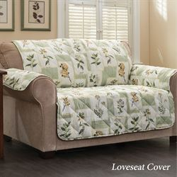 Floralescent Furniture Protector Green Recliner/Wing Chair