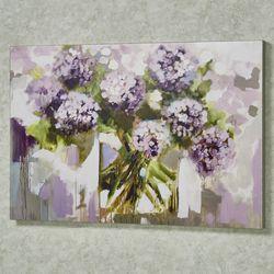 Blush Hydrangea Canvas Wall Art Purple