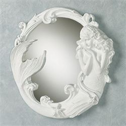 Mystical Mermaid Wall Mirror White