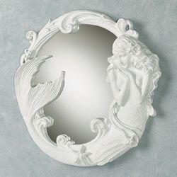 Mystical Mermaid Wall Mirror White