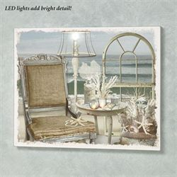 Seaside Chic Lighted Canvas Wall Art Multi Warm