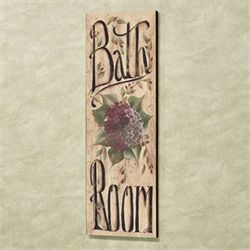 Botanical Bathroom Canvas Wall Art Multi Warm