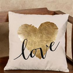 Large Love Heart Decorative Pillow Linen