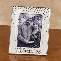 Celebrate 25 Tabletop Photo Frame Silver