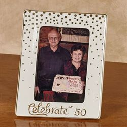 Celebrate 50 Tabletop Photo Frame Gold