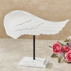 Wing and a Prayer Tabletop Accent Weathered White