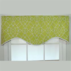 Heaven Bright Scalloped Valance 51 x 17