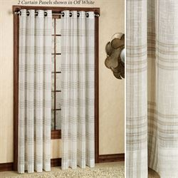 SoHo Plaid Grommet Curtain Panel