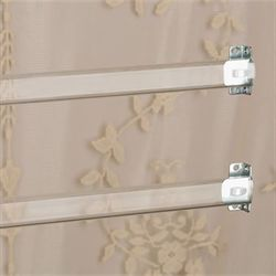 Clear Sash Curtain Rod Set Clear