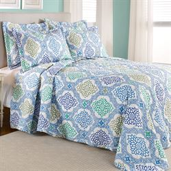 Vanessa Quilted Bedspread Blue