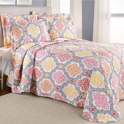 Vanessa Quilted Bedspread Dark Gray