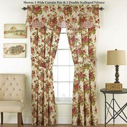 Norfolk Rose Tailored Wide Curtain Pair Cream 100 X 84