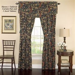 Rhapsody Tailored Wide Curtain Pair Jewel 100 x 84