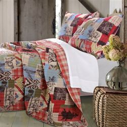 Rustic Lodge Quilt Set Multi Warm