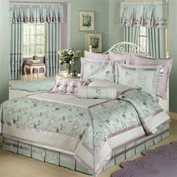 Ansley Comforter Set Dusty Aqua