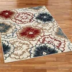 Cicilia Floral Rectangle Rug Multi Warm