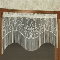 Queens Lace Scalloped Valance 56 x 24