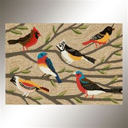 Natural Bird Accent Rug Multi Earth 26 x 4