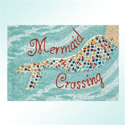 Mermaid Crossing Accent Rug Aqua 26 x 4