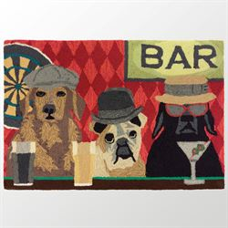 Bar Patrol Dogs Accent Rug Multi Warm 26 x 4
