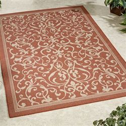 Scrolling Vines Rectangle Rug