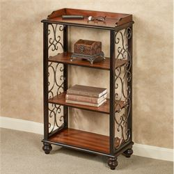 Ashburn 4 Tier Floor ShelfRegal Walnut4 Tier