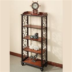 Ashburn 5 Tier Floor ShelfRegal WalnutFive Tier