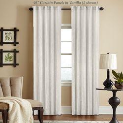 Woodrow Semi Sheer Curtain Panel