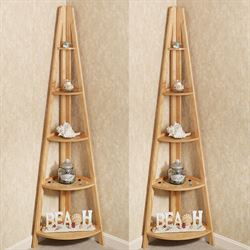 Escalera Corner Shelves Set of Two