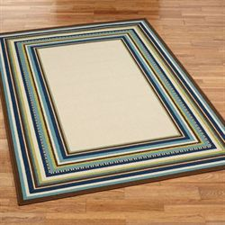 Sea Line Rectangle Rug Multi Cool