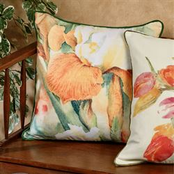 Watercolor Iris Pillow Multi Cool 20 Square