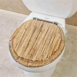 Bamboo Toilet Seat Natural