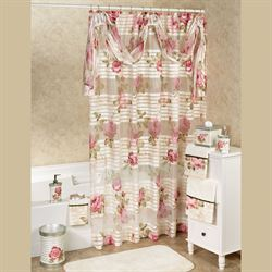 Spring Rose Shower Curtain Light Cream 72 x 72