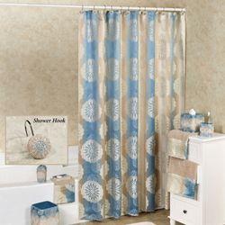 Fallon Blue Shower Curtain Blue Shadow 72 x 72