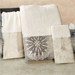 Fallon Bath Towel Set Taupe Bath Hand Wash