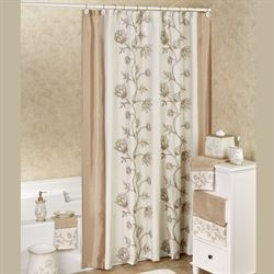 Maddie Shower Curtain Light Almond 72 x 72