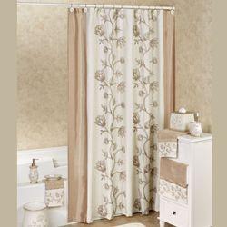 Maddie Shower Curtain Light Almond 72 x 72
