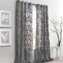 Amelia Grommet Curtain Panel Dark Gray