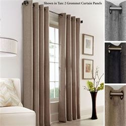 Faux Jute Grommet Curtain Panel