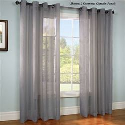 Stellan Grommet Curtain Panel Dark Gray