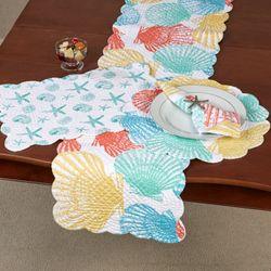 Captiva Island Table Runner Multi Bright 14 x 51