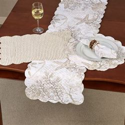 Barefoot Landing Table Runner Multi Earth 14 x 51