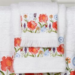 Merry May Bath Towel Set White Bath Hand Fingertip